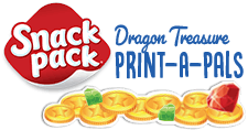 Snack pack Dragon Treasure Print-A-Pals