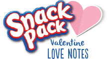 Snack Pack Valentine Love Notes